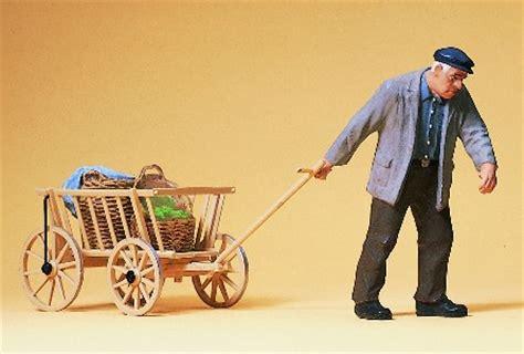 pulling cart preiser 45109 farmer pulling cart