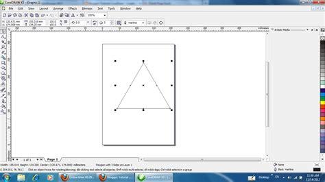 tutorial membuat dasi segitiga tutorial coreldraw cara membuat segi banyak polygon