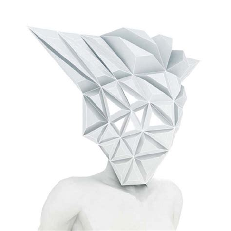 Origami Mask - masko spiky origami by 3gatti it s liquid