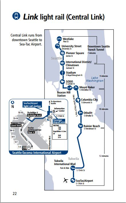 Link Light Rail Seattle Map transit maps