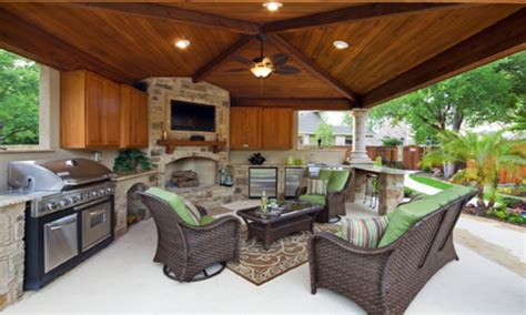 patio kitchens design pool patios ideas covered patio with outdoor kitchen