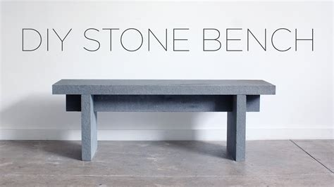 diy stone bench diy stone bench youtube