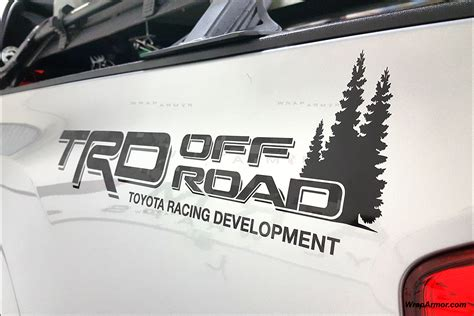 toyota trd decal set  bed sides offroad pro wraparmor