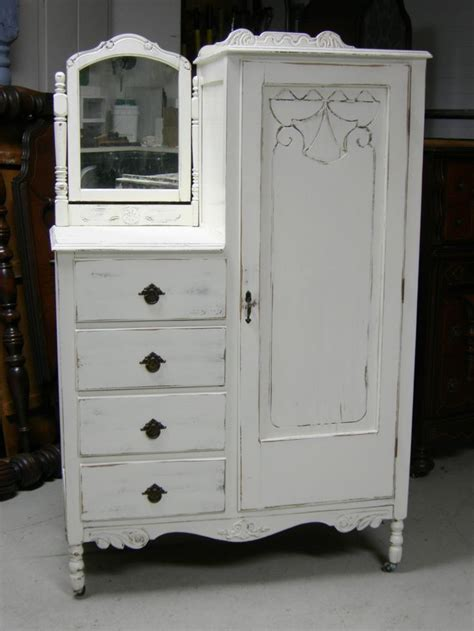 Armoire Dresser shabby antique dresser armoire bedroom in a box painted white