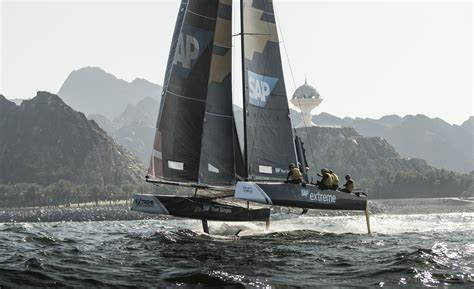 catamaran sailing extreme extreme sailing series gets underway in muscat oman