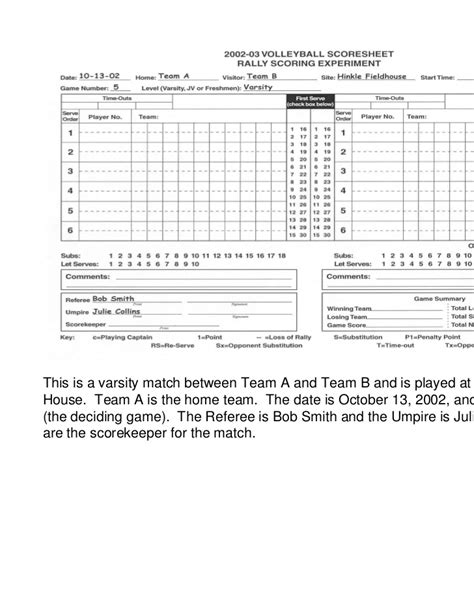 printable volleyball score book charming volleyball score sheet template ideas exle