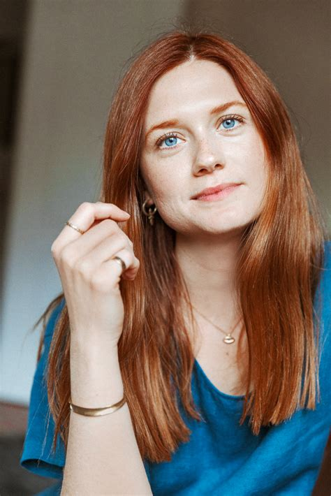 bonnie wright harry potter s bonnie wright on red haircare into the gloss