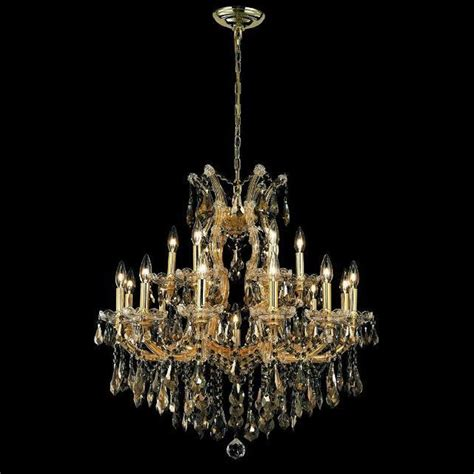 maria theresa gold crystal chandelier in white bedroom maria theresa collection 19 light 30 quot gold chandelier with