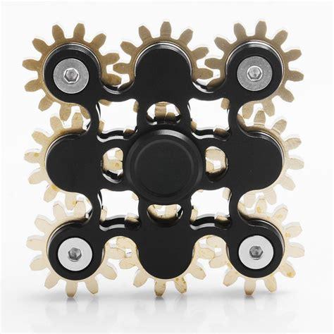 Fidget Spinner Gear Ex 9 9 gear steunk spinner fidget black aluminum