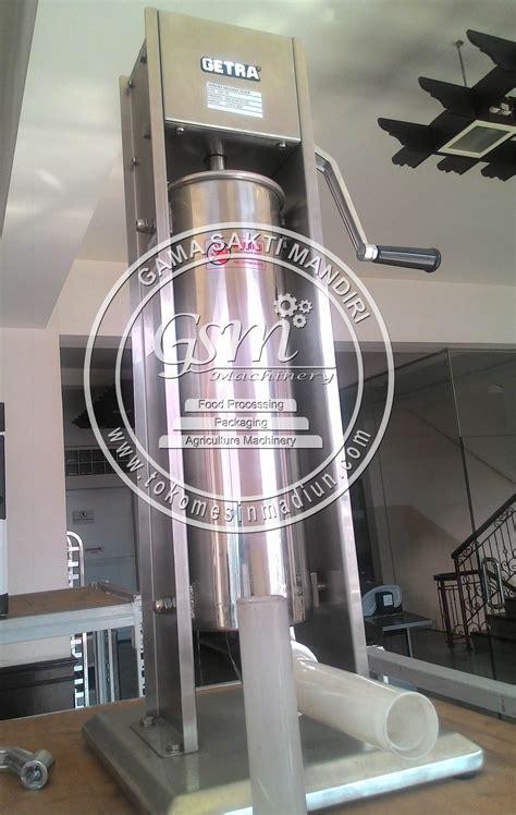 Alat Pengisi Sosis Mesin Pencetak Sosis Manual Bahan Stainless Ste mesin pembuat sosis getra toko mesin madiun
