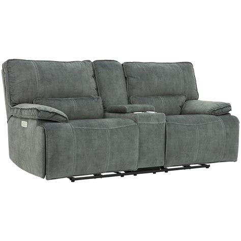 gray microfiber reclining loveseat city furniture gray microfiber power reclining