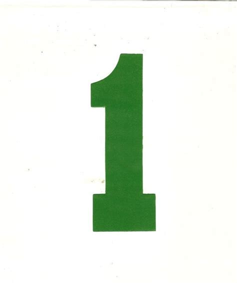 Green Mba Number 1 by Iron On Green Number 1 Transfer Varsity By