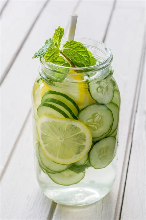 Cucumber Mint Lemonade Detox by Cucumber Spa Water Health Benefits Sofabfood