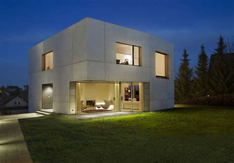 concrete home designs minimalist in germany modern modern concrete block house with low budget and feasible