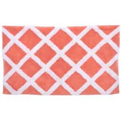 Coral Bathroom Rugs Trellis Coral Bath Rug From Beddingstyle