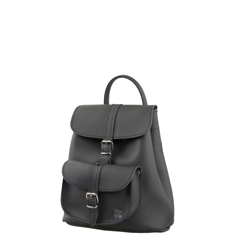 Small Black Leather by Duffy Small Black Leather Backpack
