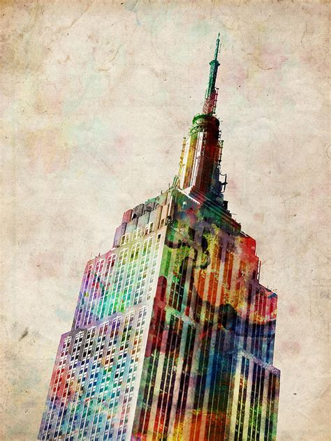 building painting empire state building by michael tompsett