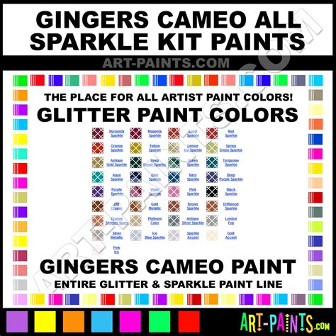 gingers cameo all sparkle kit glitter paint colors gingers cameo all sparkle kit paint colors