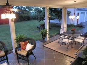 barbara s painted concrete floor screened in back porch