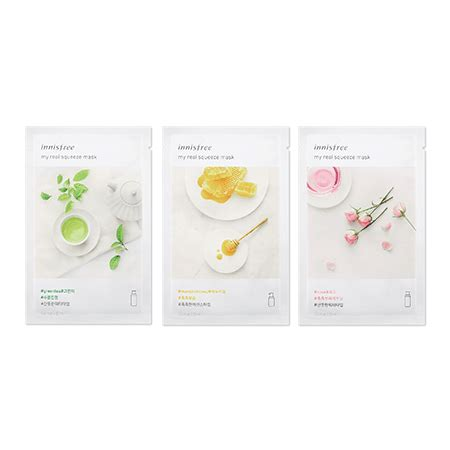 Innisfree Real Mask mặt nạ innisfree my real squeeze mask jeju cosmetics