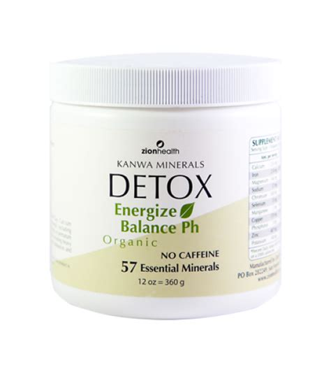 What Is A Zion Detox Treatment by Kanwa Detox Powder Whole Cleanse