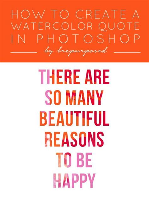 watercolour quotes tutorial how to create a watercolor quote in photoshop