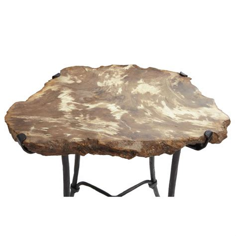 hanne industrial loft petrified wood forged iron side end