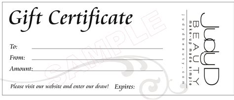 makeup gift certificate template best photos of create print and gift certificate