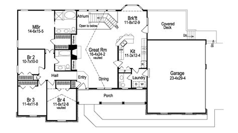 atrium ranch floor plans ashbriar atrium ranch home plan 007d 0077 house plans