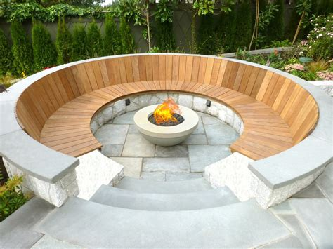feuerschale outdoor concrete pits modern outdoor pit