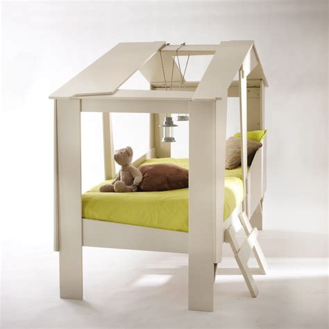 cadre de lit cabane enfant en bois avec sommier drawer