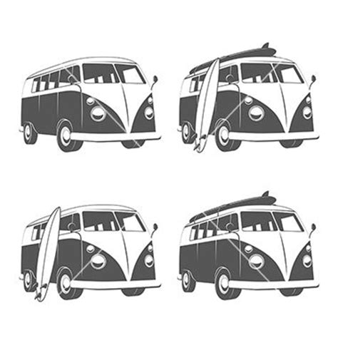 volkswagen van with surfboard clipart 176 best vw bus images on pinterest drawings vw vans