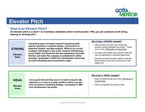 elevator pitch template why buy a retail experience
