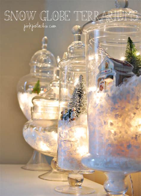 home secrets 10 glamorous winter decor ideas snow drift deck the holiday s diy snow globe terrariums