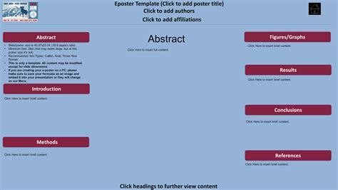 eposter template better posters what is the eposter format