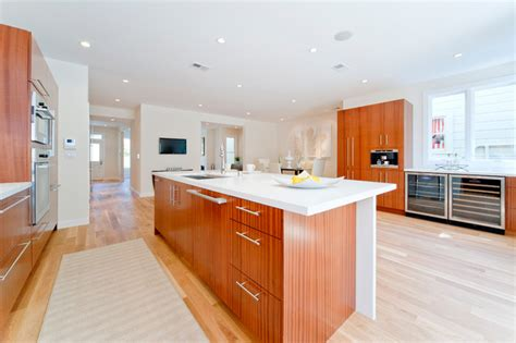 sapele cabinets contemporary kitchen san francisco