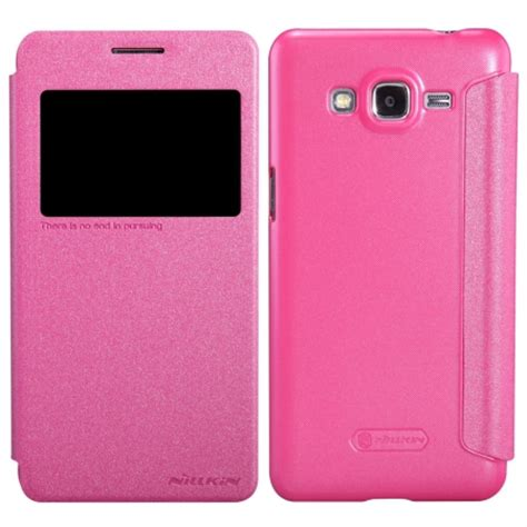 Samsung Galaxy Grand Prime Armor Leather Flip Bumper Dompet Cover nillkin sparkle series slim flip leather for samsung