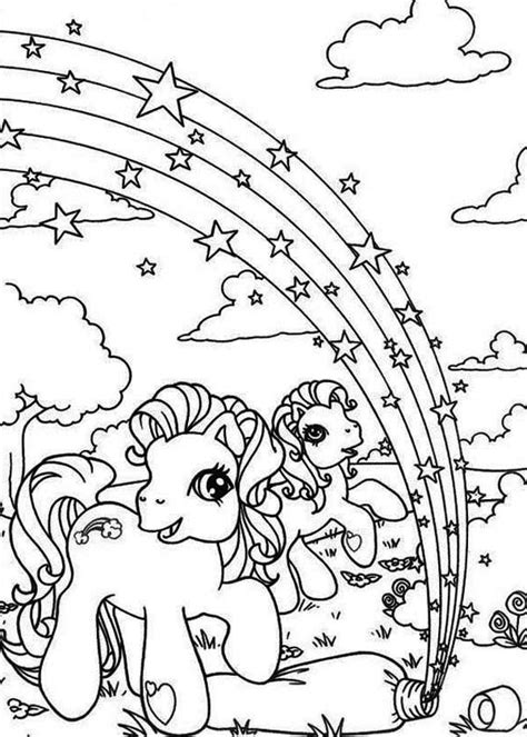rainbow star coloring page my little pony rarity and pinkie pie with rainbow star
