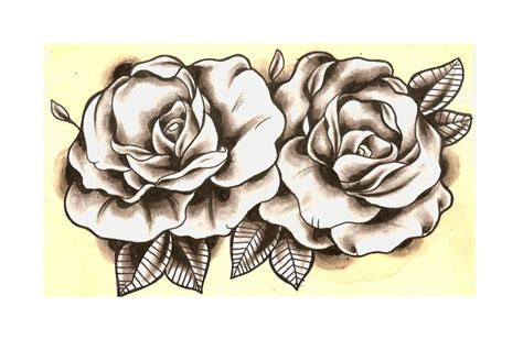 new school rose tattoo design new school roses want ink