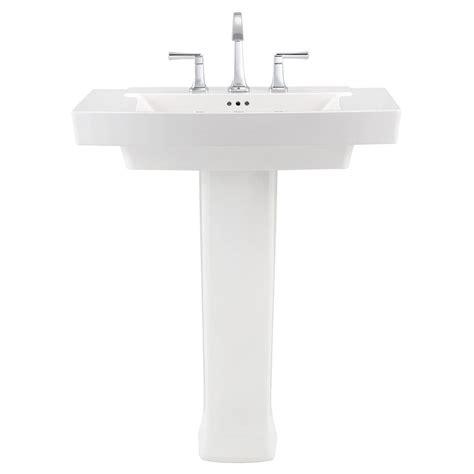 standard pedestal sink standard townsend pedestal sink in white with 8