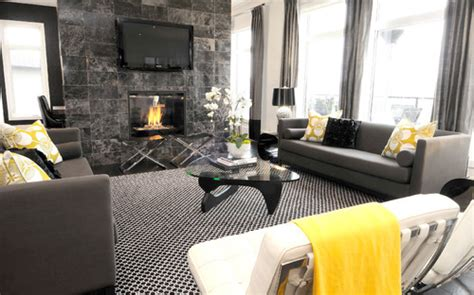 Yellow And Black Living Room Decorating Ideas by Need Help I Grey Black Grey Carpet And Also
