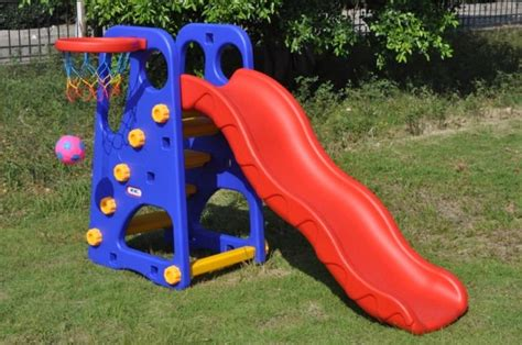 best selling indoor playground plastic slides outdoor