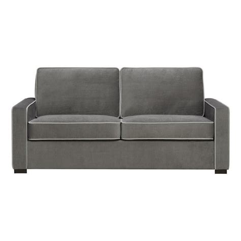 dorel living powell two toned sofa in gray da6922 sf
