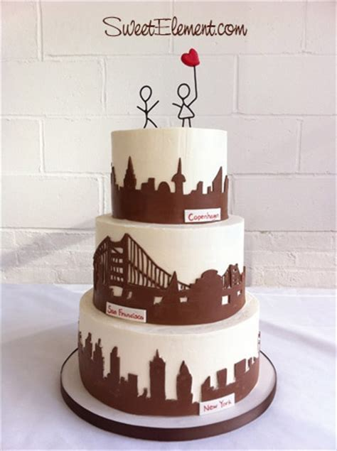 20  best ideas about Silhouette Wedding Cake on Pinterest