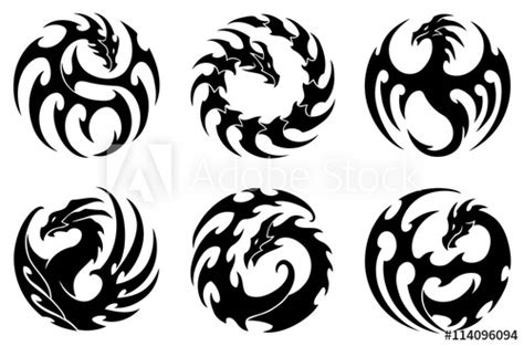 round tribal tattoo designs vector illustration set of tribal