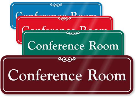 conference room signs conference room showcase wall sign sku se 2442