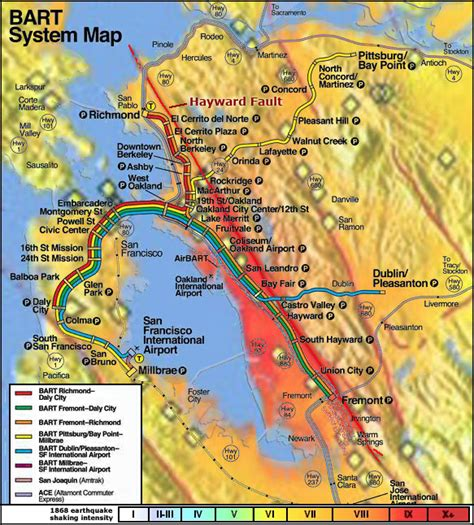 hayward fault map geology cafe