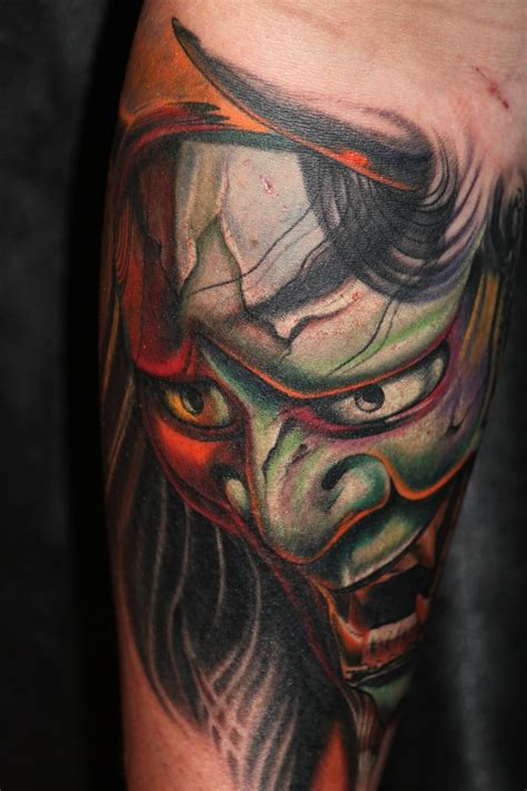 hannya mask tattoo black 62 japanese hannya mask tattoos