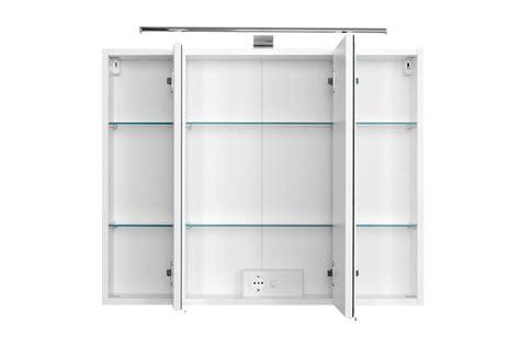 spiegelschrank 80 cm bad spiegelschrank 3 t 252 rig mit led aufbauleuchte 80