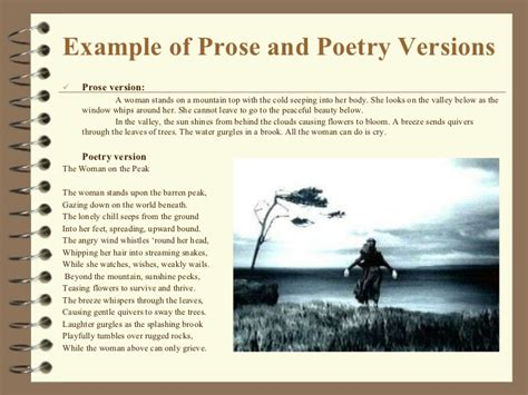 exle of prose poetry and figurative language 2012